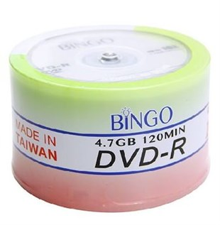 BİNGO DVD-R 4.7 GB 16X 50Lİ CAKE BOX