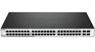 D-LINK DGS-1210-52/F1A GIGABIT SMART SWITCH WITH 48 10/100/1000BASE-T PORTS AND 4 GIGABIT MINIGBIC (SFP) PORTS