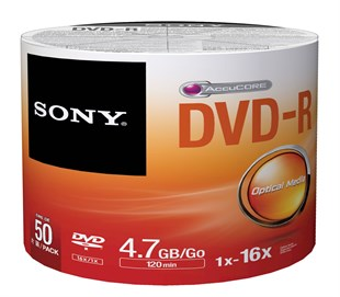 SONY DVD-R 4.7GB 16X 50Lİ SHRINK - 50DMR47SB
